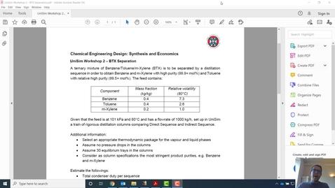 Thumbnail for entry UniSim Workshop 2 - BTX Separation