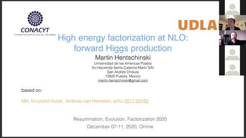 Thumbnail for entry REF2020: Martin Hentschinski- High energy factorization at NLO: forward Higgs production