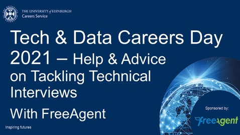 Thumbnail for entry Tech & Data Careers Day - Help and advice on tackling technical interviews