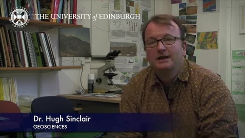 Thumbnail for entry Hugh Sinclair - Geoscience- Research In A Nutshell - School of GeoSciences -20/01/2013