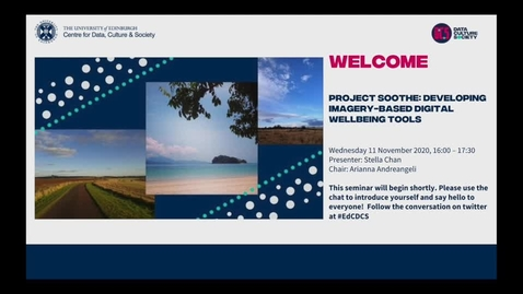 Thumbnail for entry Project Soothe: Developing Imagery-Based Digital Wellbeing Tools