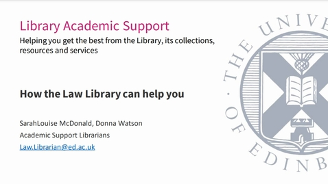 Thumbnail for entry How the law library can help you (UG) Sept 2021