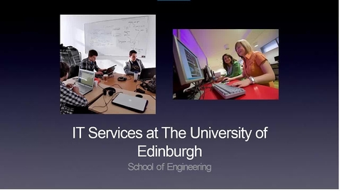 School of Engineering IT Induction New Students