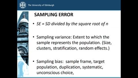 Thumbnail for entry Samples and Sampling - slide 14 Sampling error