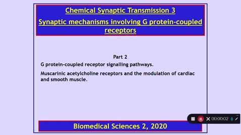 Thumbnail for entry BMS2: Chemical Synaptic Transmission 3 Part 2 Dr Phil Larkman