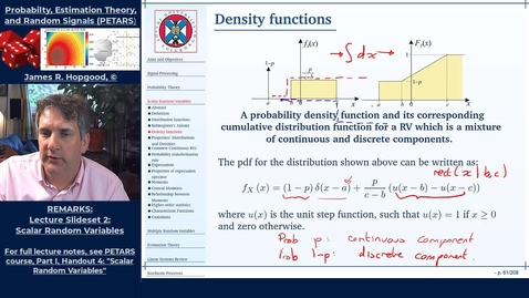 Thumbnail for entry Topic 19: Introduction to probability density functions and their properties (PETARS. Chapter 4)