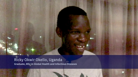 Thumbnail for entry Global Health and Infectious Diseases online masters: Ricky Okwir Okello - graduate testimonial