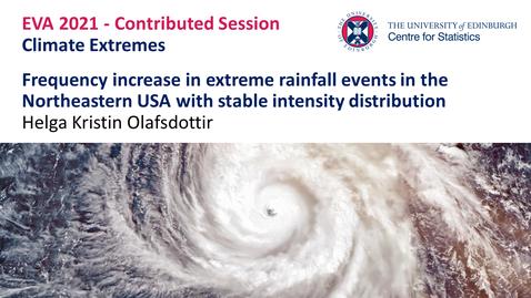 Thumbnail for entry Climate Extremes:  Helga Kristin Olafsdottir