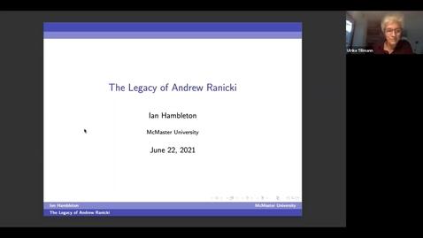Thumbnail for entry The Legacy of Andrew Ranicki - a photo tour - Ian Hambleton