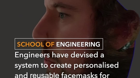 Thumbnail for entry Reusable facemasks made using smartphones and 3D printers