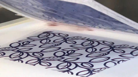 Thumbnail for entry Textiles: Gocco printing on fabric