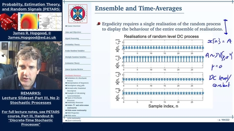 Thumbnail for entry Topic 65: Time Averages and Ergodicity (PETARS, Chapter 8)