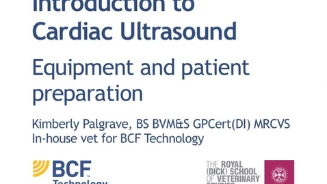 Thumbnail for entry Cardiac IUltrasound Video 2 - Equipment and patient preparation