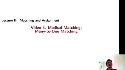Thumbnail for entry GTBA33. Medical Matching: Many-to-One Matching