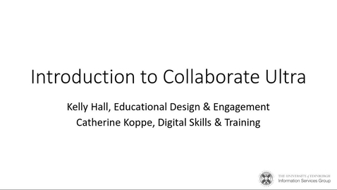 Thumbnail for entry Introduction to Collaborate course recording