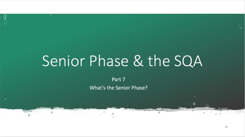 Thumbnail for entry Part 7 Senior Phase and the Scottish qualifications Authority - October 4th 2020, 11:22:45 am