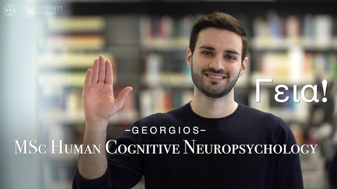 Thumbnail for entry University of Edinburgh: Meet our postgraduate students - Georgios