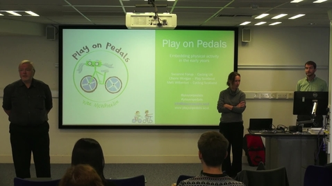 Thumbnail for entry Play On Pedals | Embedding Physical Activity in the Early Years - Suzanne Forup, Cherie Morgan, Matt Wilberton
