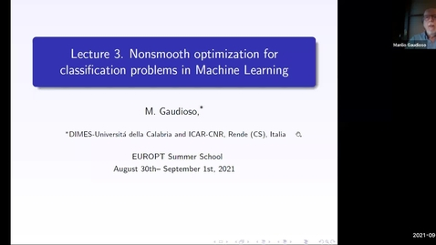 Thumbnail for entry Essentials of numerical nonsmooth optimization Lecture 3 - Manilo Gaudioso