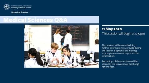 Thumbnail for entry Medical Sciences virtual  Q&A