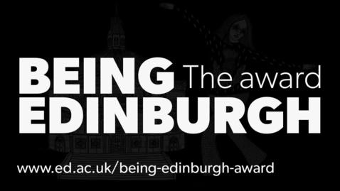 Thumbnail for entry Being Edinburgh, the award