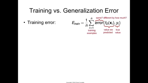 Thumbnail for entry Generalization Error