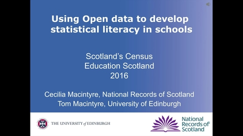 Thumbnail for entry Tom Macintyre | Module 28 Session 1 Using census data - Secondary Maths