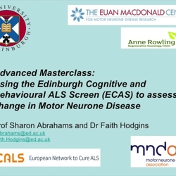 Thumbnail for channel Edinburgh Cognitive and Behavioural ALS Screen (ECAS)