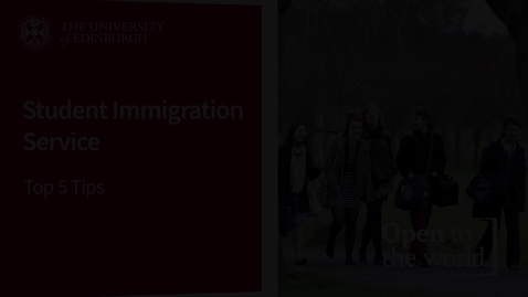 Thumbnail for entry Student Immigration Service - Top 5 Tips