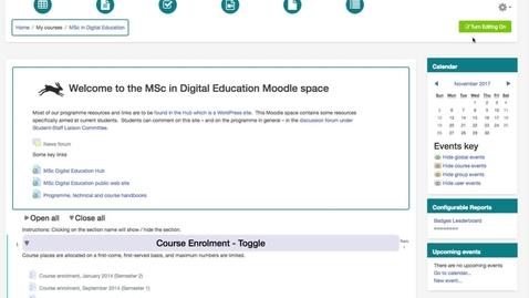 Thumbnail for entry Course enrolment choice