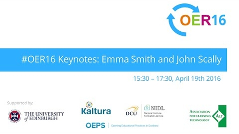 Thumbnail for entry #OER16 Keynotes from Emma Smith and John Scally
