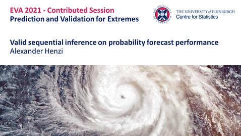 Thumbnail for entry Prediction and Validation for Extremes: Alexander Henzi