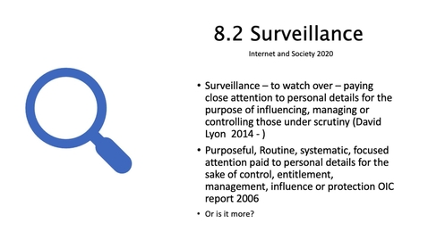 Thumbnail for entry 8.2 Surveillance and Power