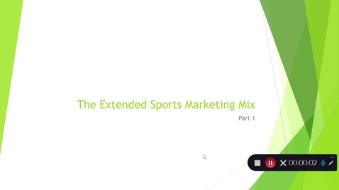 Thumbnail for entry Sports Marketing Mix (Part 1)