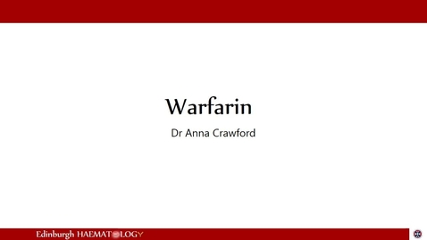 Thumbnail for entry Warfarin
