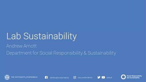 Thumbnail for entry Lab Sustainability Webinar November 2020