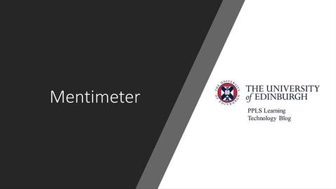 Thumbnail for entry Mentimeter Blog Video