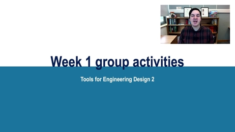 Thumbnail for entry TED2 Week 1 Activities