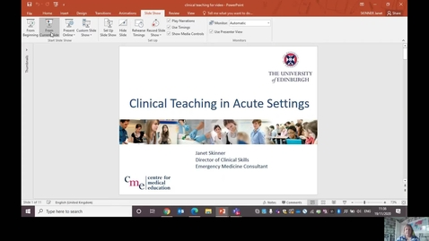 Thumbnail for entry Clinical Teaching in Acute Settings