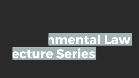 Thumbnail for entry Brodies Environmental Law Lecture: Prof Ben Pontin