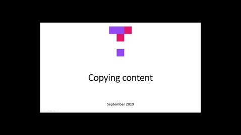 Thumbnail for entry Copying Content with the new Top Hat interface