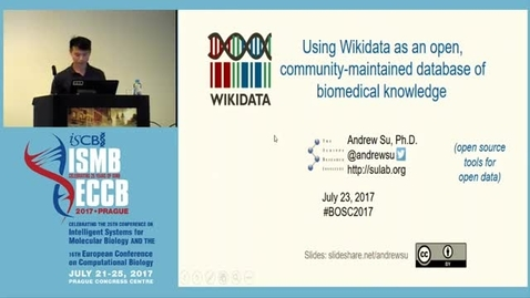 Thumbnail for entry Using Wikidata as an open, community maintained database of biomedical knowledge - Andrew Su