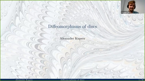 Thumbnail for entry Diffeomorphisms of discs - Alexander Kupers