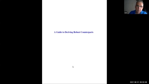 Thumbnail for entry Robust optimisation: A guide to Deriving Robust Counterparts - Lecture 2 - Aharon Ben-Tal
