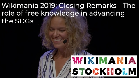 Thumbnail for entry The role of free knowledge in advancing the SDGs - Katherine Maher, Executive Director of the Wikimedia Foundation