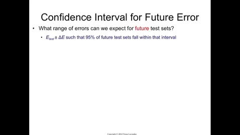 Thumbnail for entry Confidence Interval for Generalization