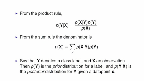 Thumbnail for entry Bayes' Rule