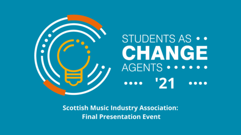 Thumbnail for entry SACHA '21 - Scottish Music Industry Association - Final Presentation Event