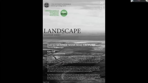 Thumbnail for entry LSS4_David Skinner Lecture_Kate Orff