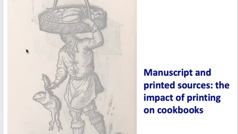 Thumbnail for entry Food and Society in Early Modern Europe - Week 1 pt 2